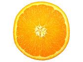 Orange slice auf weißem hintergrund — Stockfoto