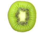 Kivi meyve dilim beyaz arka plan üzerinde izole — Stok fotoğraf