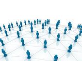 Conceito de rede social sobre fundo branco — Foto Stock