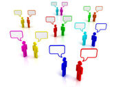 Social chat communication concept — Stock Photo