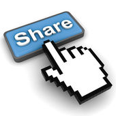 Share button concept — Stock Photo