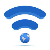 Wifi wireless global technology icon — Stock Photo