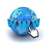 インターネット ワールド ・ ワイド ・ ウェブのシンボルの概念 — ストック写真
