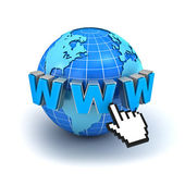 Concetto di simbolo di Internet world wide web — Foto Stock
