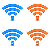 3d wifi icon collection isolated on white background — Stock Photo