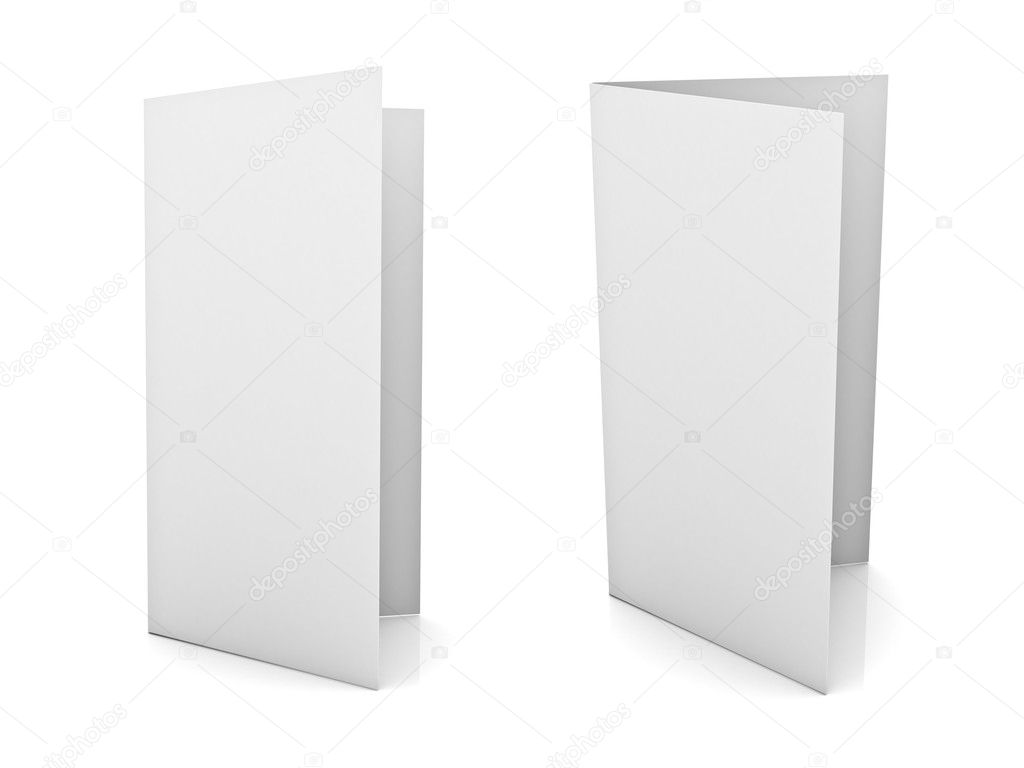 Blank brochure or flyer isolated over white background – Blank Brochure