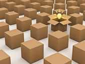 Think outside the box concept — Stock Photo