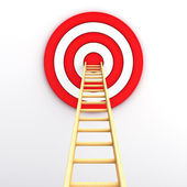 Ladder to the center of the red target — Stock Photo