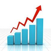 3d business graph — Stock Photo