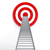 Ladder to the middle of the red target — Stock Photo