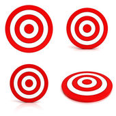 Collection of red targets — Stock Photo