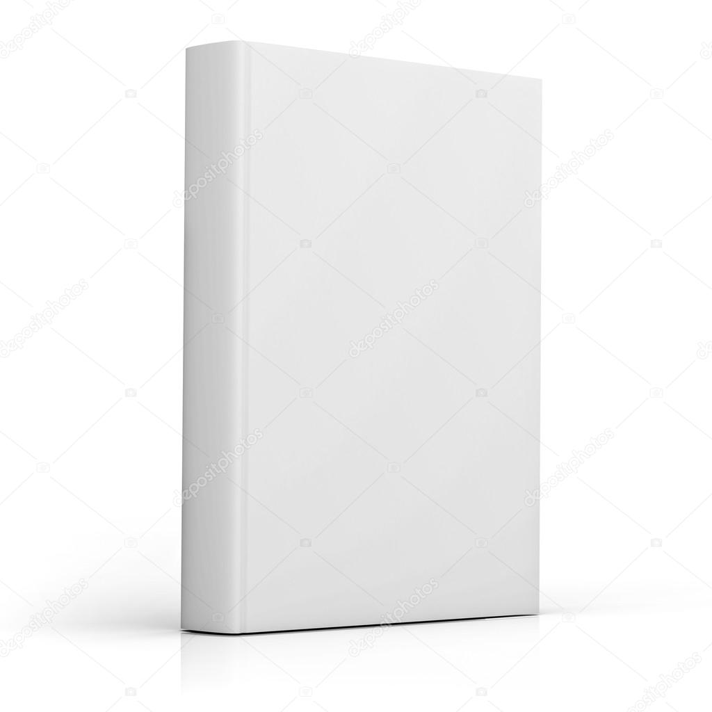 Book Cover White Background : Capa do livro em branco sobre fundo — foto stock