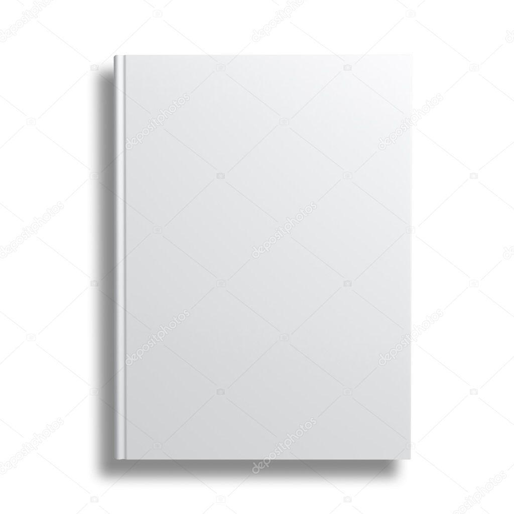 Book Cover White River : 孤立在白色背景的空白书封面 — 图库照片