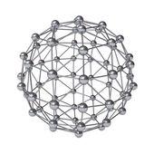 3d molecular structure geometry model — Stock Photo