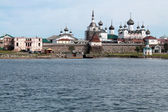 Solovetsky Monastery as seen from the White Sea — Stock Photo