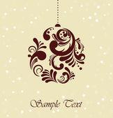 Dekorativní vánoční koule — Stock vektor