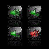 Media speler pictogrammenset — Stockvector
