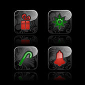 Christmas icons (set #2) — Vetor de Stock
