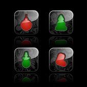 Christmas icons (set #1) — Stock Vector