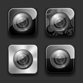 Camera apps icon set — Stock Vector
