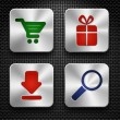 Shopping icons — Stock Vector #14437697