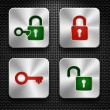 Lock icons set. — Stock Vector