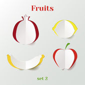 Set of fruits — Stockvector