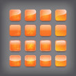 Set of blank orange buttons — Stock Vector #26467537