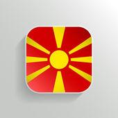 Vector Button - Macedonia Flag Icon — Stock Vector