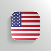 Vector Button - United States of America Flag Icon — Stock Vector