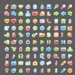 Vector Set of 100 Sticker Icons — Stock Vector #28611751