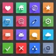 Flat Application Icons Set — Stock Vector