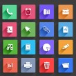 Flat Application Icons Set — Stock Vector #28611823