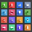 Flat Application Icons Set — Stock Vector #28611921
