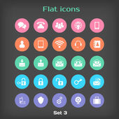 Vector Round Flat Icon Set ?3 — Stock Vector