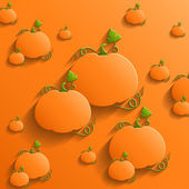 Abstract Background with Pumpkins — Stock Vector