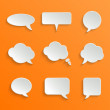 Abstract White Speech Bubbles Set — Stock Vector #35650271