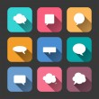 Speech Bubbles  Icons Set in Flat Style — Stock Vector