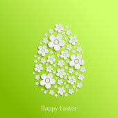Easter Egg of White Flowers — Stock Vector