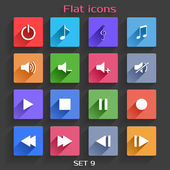 Flat Application Icons Set 9 — Stock Vector