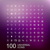 Vector Set of 100 Icons for Web Design — Stock Vector