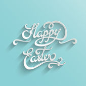 Happy Easter lettering Greeting Card — Stock Vector