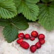 Fresh Strawberry Heart — Stock Photo