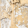 Beige Yellow and White Paint Peeling Off a Weathered Old Concret — Stock Photo