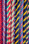 Colorful Cotton Rope Lead Lines for Horses — Stock Photo