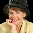 Smiling Woman In Hat — Stock Photo #11666429