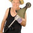 Gardener With Whipper Snipper — Stock Photo #11776906