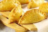Golden Cornish Pasties — Stock Photo