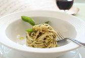 Pesto Spaghetti — Stock Photo