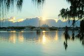 Sunrise Over Marina Mirage — Stock Photo